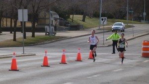 Finishing up the south loop of the St. Albert 10 Miler