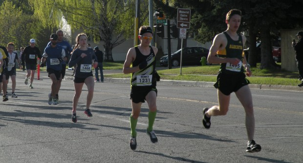 Starting the Woody's RV World Red Deer 10k - 2nd place overall (36:01)